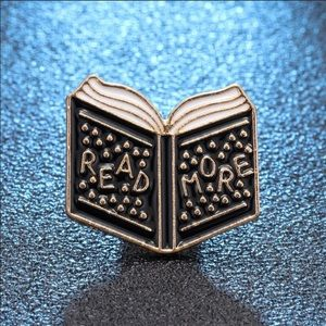 Book Brooches Read More Enamel Pin